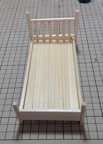 画像2:[ミニチュア家具] わりばしのベッド