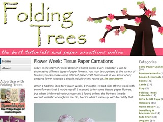 Folding Trees ≫ Flower Week: Tissue Paper Carnations
