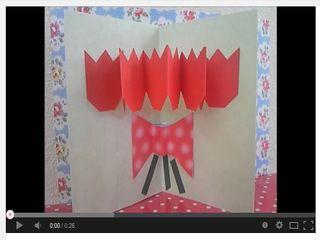 かんたんポップアップカード37 チューリップの花束 作り方 - YouTube