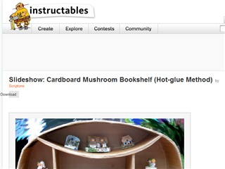 Slideshow: Cardboard Mushroom Bookshelf (Hot-glue Method)