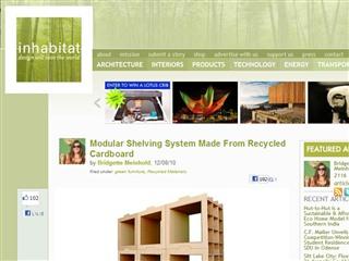 Danny Gilles Designs Recycled Cardboard Shelving System | Inhabitat