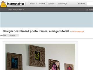 Designer cardboard photo frames, a mega tutorial