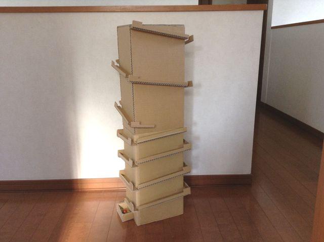 画像:ビー玉ころがしを作る(2)-2