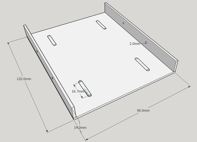 画像:HDD/SSDマウンタ 設計図