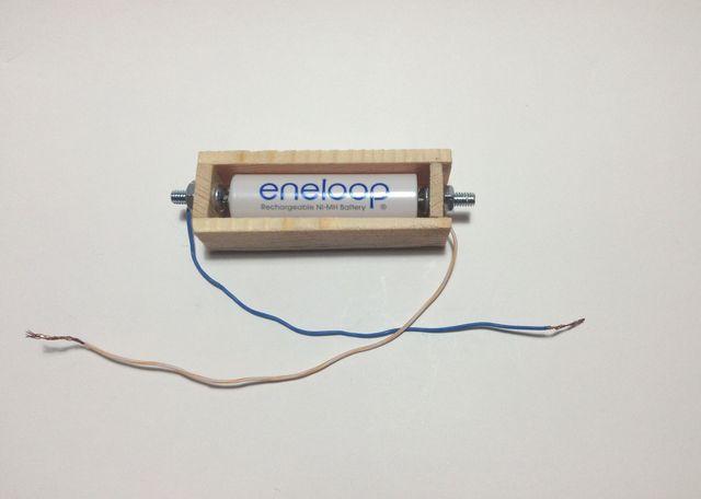 画像:手作り電池ボックス