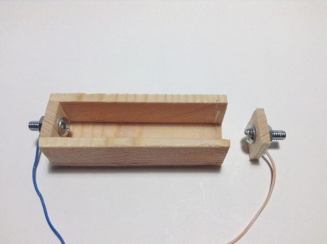 画像2:手作り電池ボックス