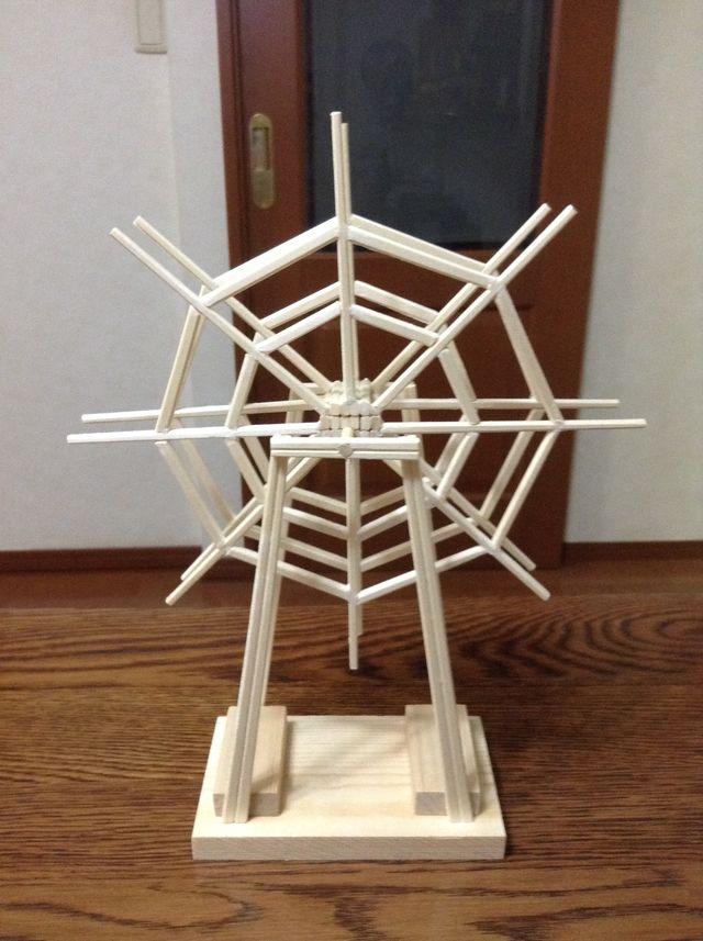 画像3:観覧車を作る 2 土台・支柱