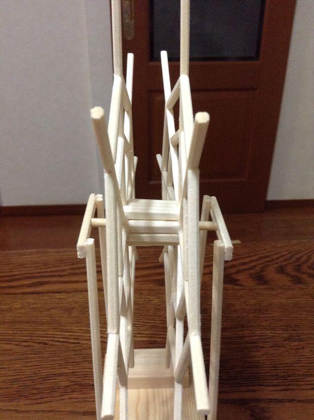 画像4:観覧車を作る 2 土台・支柱