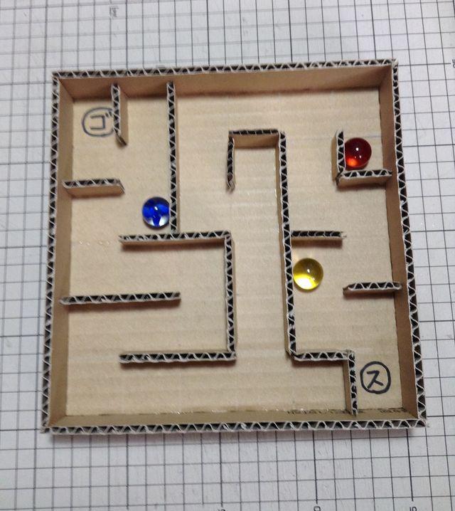 画像:ビー玉ころがしを作る 1-1