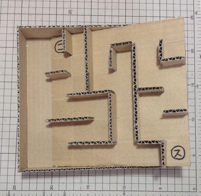 画像4:ビー玉迷路を作る 2