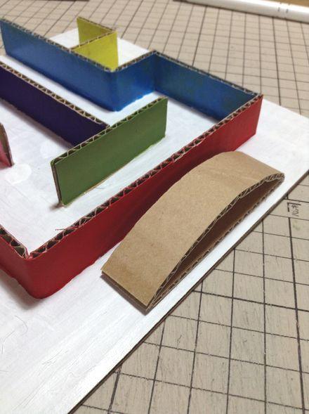 画像1:ビー玉迷路の工夫 1