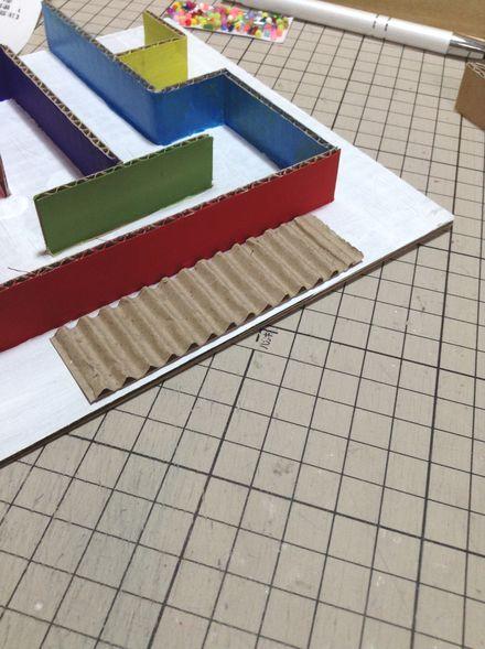 画像2:ビー玉迷路の工夫 1