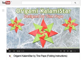 Origami KalamiStar by Tine Pape (Folding Instructions) - YouTube