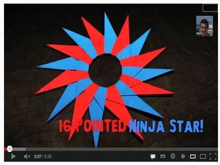 How to Make a 16-Pointed Ninja Star (Shuriken) - YouTube