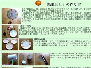 紙皿回し - 0から始める手作りおもちゃ - 養護学校の授業に役立つ自作創作教材・教具