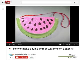 How to make a fun Summer Watermelon Letter Holder - YouTube